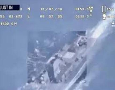 شاهد : إيران تبث لقطات لطائرة مسيرة ترصد سفنا أمريكية في الخليج تفند الرواية الأمريكية بشأن اسقاطها