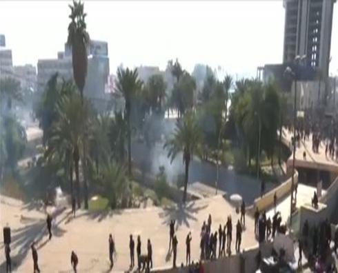 قصف للمنطقة الخضراء والصدر يتبرأ من عنف الاحتجاج