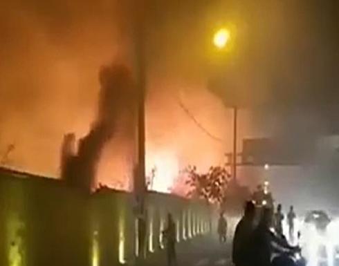 إيران.. حريق هائل في شيراز يتلف العديد من الممتلكات