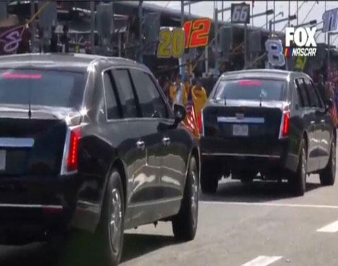 """بالفيديو : ترامب يقود """" الشبح """" على حلبة دايتونا 500"""