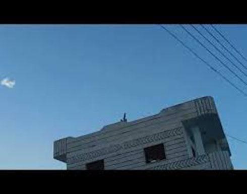 تصدي دفاعاتنا الجوية لصواريخ العدوان الإسرائيلي في ريف حماة