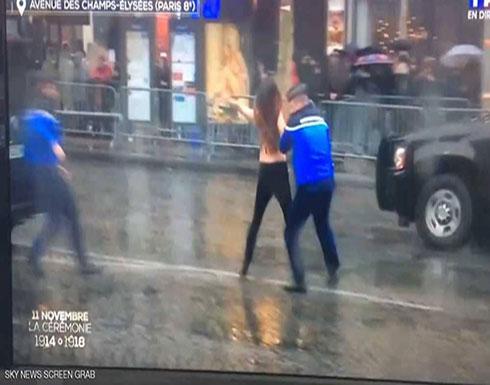 بالصور : ناشطات عاريات في مدريد