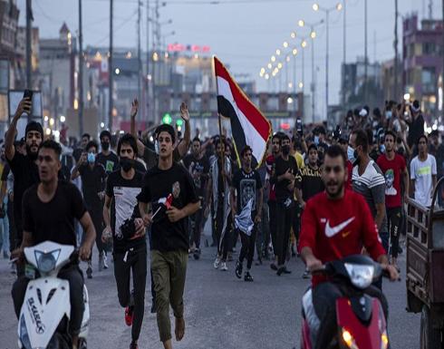 متظاهرون يقطعون شرياناً حيوياً بالبصرة العراقية .. بالفيديو