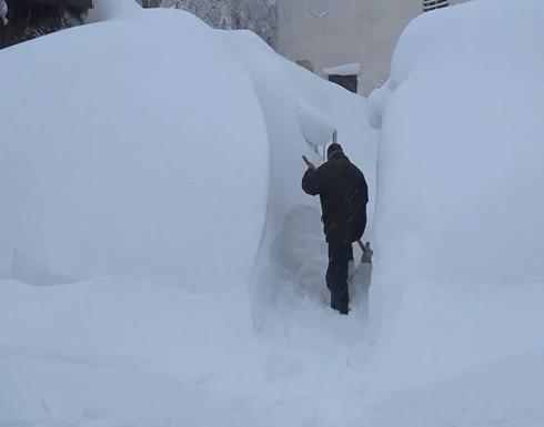 شاهد : الثلج يصل إلى مترين شمال إيطاليا