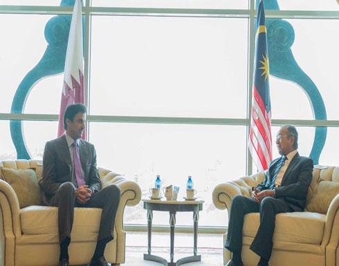 هكذا علق أمير قطر على مباحثاته مع رئيس وزراء ماليزيا
