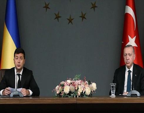 الرئيس أردوغان يبحث قضايا إقليمية مع نظيره الأوكراني