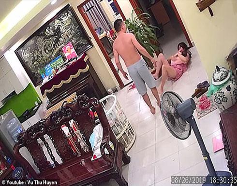 بالفيديو : مذيعة راديو تتعرض للضرب على يد زوجها