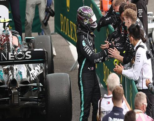 هاميلتون يفوز بجائزة بلجيكا للفورمولا واحد ويقترب من معادلة رقم شوماخر التاريخي