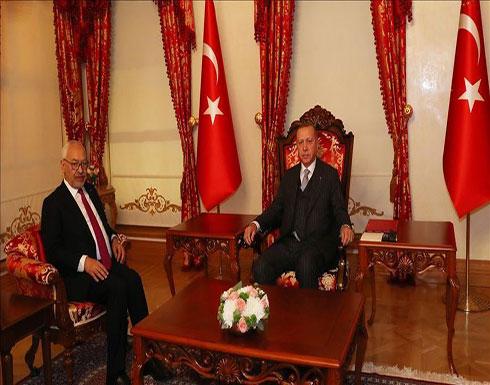 أردوغان يستقبل رئيس البرلمان التونسي في إسطنبول