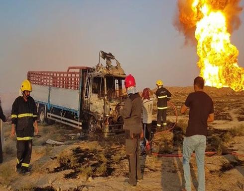 شاهد : قتلى وجرحى من الحشد بانفجار في العراق