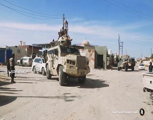 تقدم الجيش الليبي في محور العزيزية قرب طرابلس