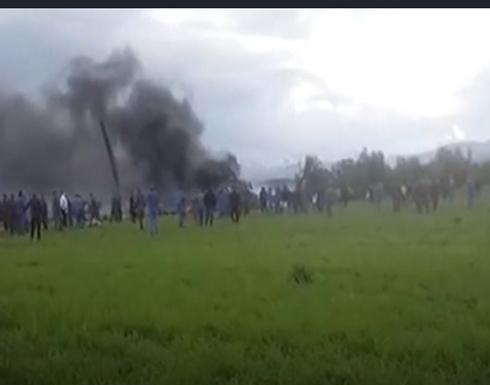 أكثر من 100 قتيل بتحطم طائرة عسكرية جزائرية