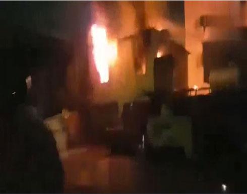 بالفيديو : 10 جرحى في مواجهات بين الأمن ومتظاهرين في كربلاء
