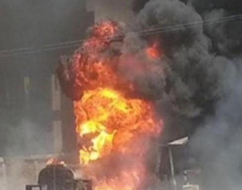 انفجار خط بترول على طريق الإسماعيلية الصحراوي في مصر .. بالفيديو