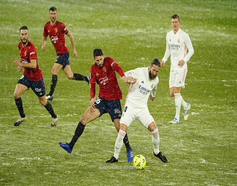 بالصور: ريال مدريد يتعثر على ثلوج أوساسونا