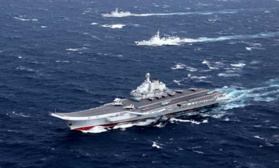 الصين ترسل حاملة طائراتها الوحيدة إلى مضيق تايوان