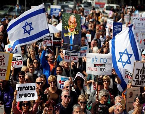 إسرائيليون يطالبون باستقالة نتنياهو في القدس المحتلة  .. بالفيديو