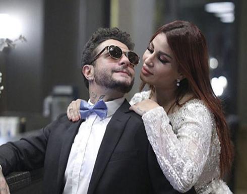 شاهد .. أول ظهور لـ زوجة أحمد الفيشاوي الألمانية مع طليقته هند الحناوي