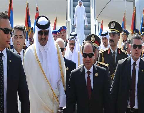 قطر: مصر من الدول الكبرى في المنطقة والسيسي يمثل الشرعية المنتخبة