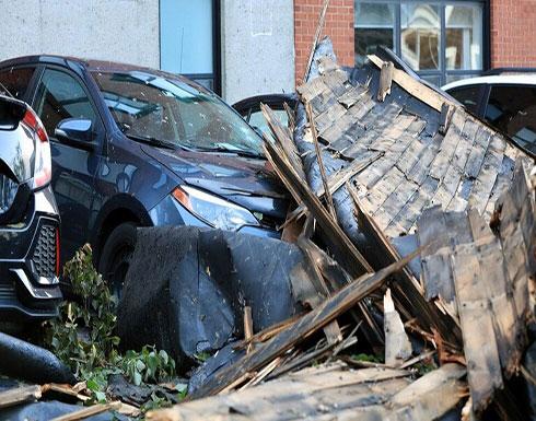 """شاهد : اجتاح إعصار """"دوريان"""" ساحل كندا المطل على المحيط الأطلسي"""