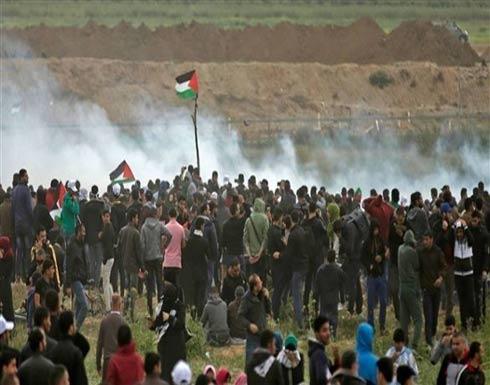 31 مصابا جراء اعتداء الاحتلال على مسيرة العودة شرق قطاع غزة