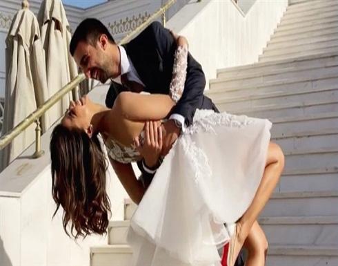 فستان زفاف دينا داش يهوس جمهور السوشيال ميديا (صور)