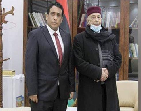 عقيلة صالح يبحث مع المنفى مستجدات الأزمة الليبية