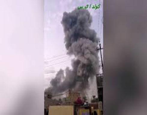شاهد : انفجار في مصنع أسلحة تابع للحشد الشعبي في العراق