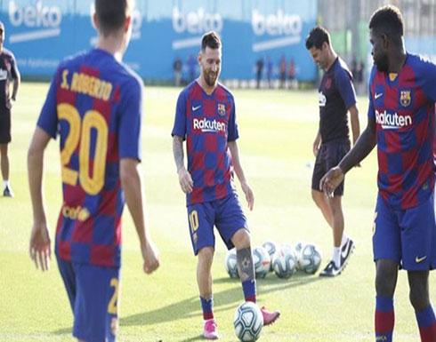 ميسي يشارك في تدريبات برشلونة استعداداً لملاقاة بيتيس
