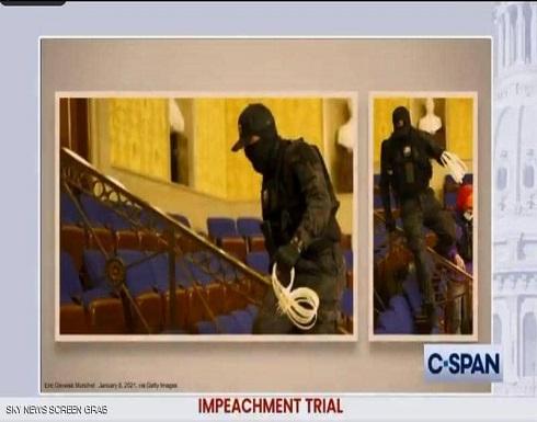 بالفيديو : من كاميرات المراقبة في الكونغرس.. مشاهد جديدة لهجوم 6 يناير