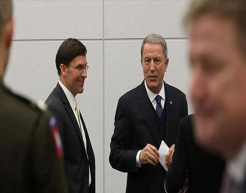 وزيرا الدفاع التركي والأمريكي يبحثان الأوضاع بسوريا والعراق
