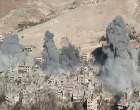 قصف بوادي بردى وغارات في حلب وحمص وحماة