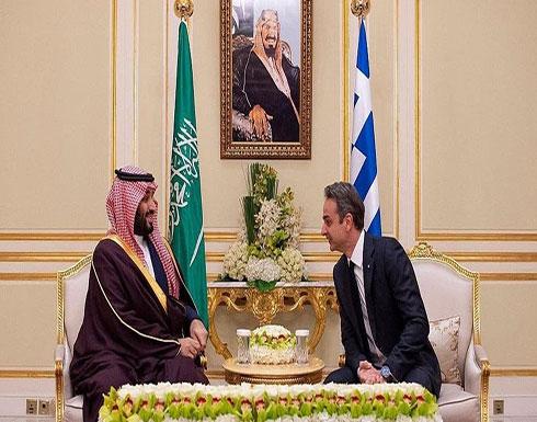 محمد بن سلمان يبحث مع رئيس وزراء اليونان أوضاع المنطقة