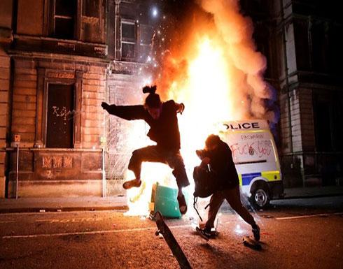 بريطانيا.. إصابات بين رجال الشرطة إثر احتجاجات عنيفة في بريستول( فيديو )