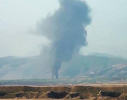 شاهد : سقوط 20 قذيفة هاون على قرية إيرانية قرب الحدود مع قره باغ