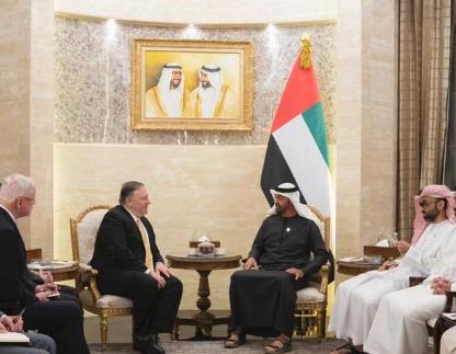 محمد بن زايد يلتقي مايك بومبيو في أبوظبي