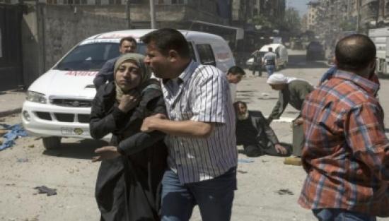 جرحى بقصف النظام على حمص وروسيا تنفي مقتل جنود