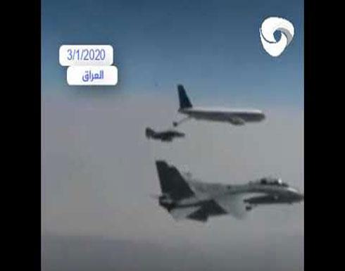شاهد : تحليق 5 مقاتلات إيرانية قرب الحدود مع العراق.