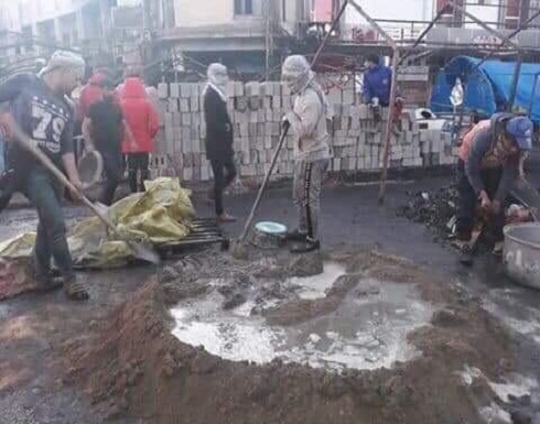 العراق.. مسلحون يحرقون خيام الاعتصامات في ذي قار - بالصور