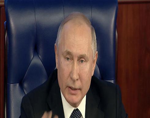 شاهد : بوتين -  لن نرضى بالتعادل مع الغرب في نوعية الأسلحة