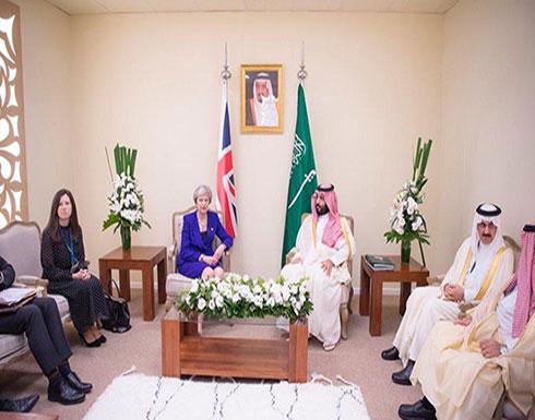 ولي العهد السعودي يلتقي رئيسة وزراء بريطانيا