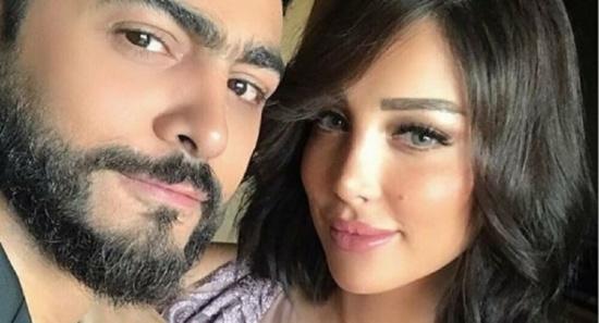 تامر حسني وبسمة بوسيل يردان على أنباء انفصالهما بصور مع أصالة