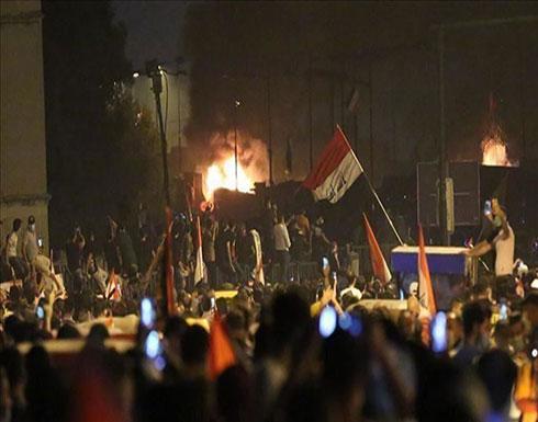 """بغداد.. محتجون يسيطرون على ساحة قرب """"المنطقة الخضراء"""""""