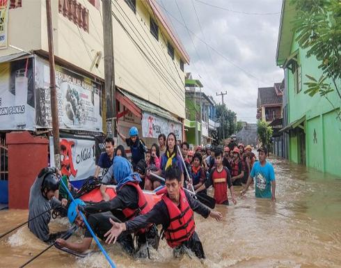 مصرع 9 أشخاص في إندونيسيا جراء السيول
