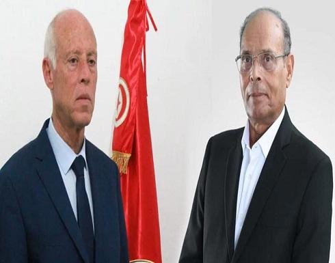 المرزوقي: قيس سعيد بزيارته لمصر لا يمثل الثورة التونسية