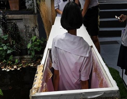 """قصّة مرعبة.. في كوريا الجنوبية سيدة اختنقت في """"تابوت"""" أثناء قيامها بطقوس """"جذب الحظ""""!"""