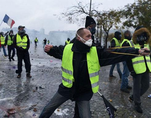 """باريس """"تشتعل"""".. إغلاق متاجر ومحطات قطارات بسبب الاحتجاجات (صور)"""