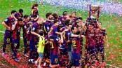 صور مباراة تتويج برشلونة بلقب الدوري الأسباني
