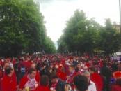 صور جماهير مباراة نهائي الدوري الاوروبي