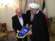 بلاتر مع الرئيس الايراني روحاني